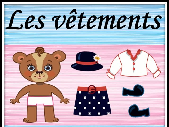 Clothes and animals in French. Les vêtements. Dressing game. Part 3. Jeu.