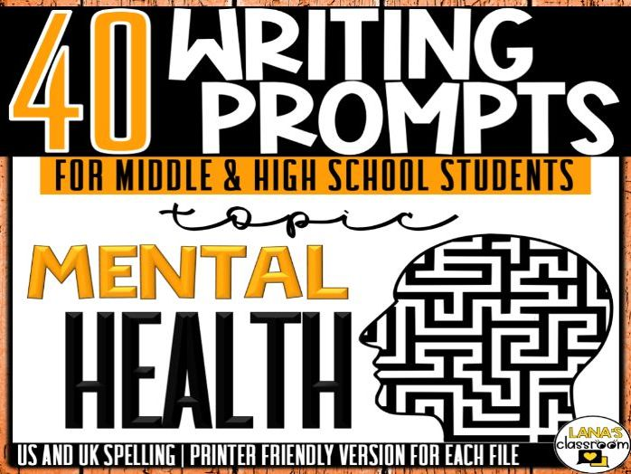 Daily Writing Prompts | Mental Health | Middle and High School