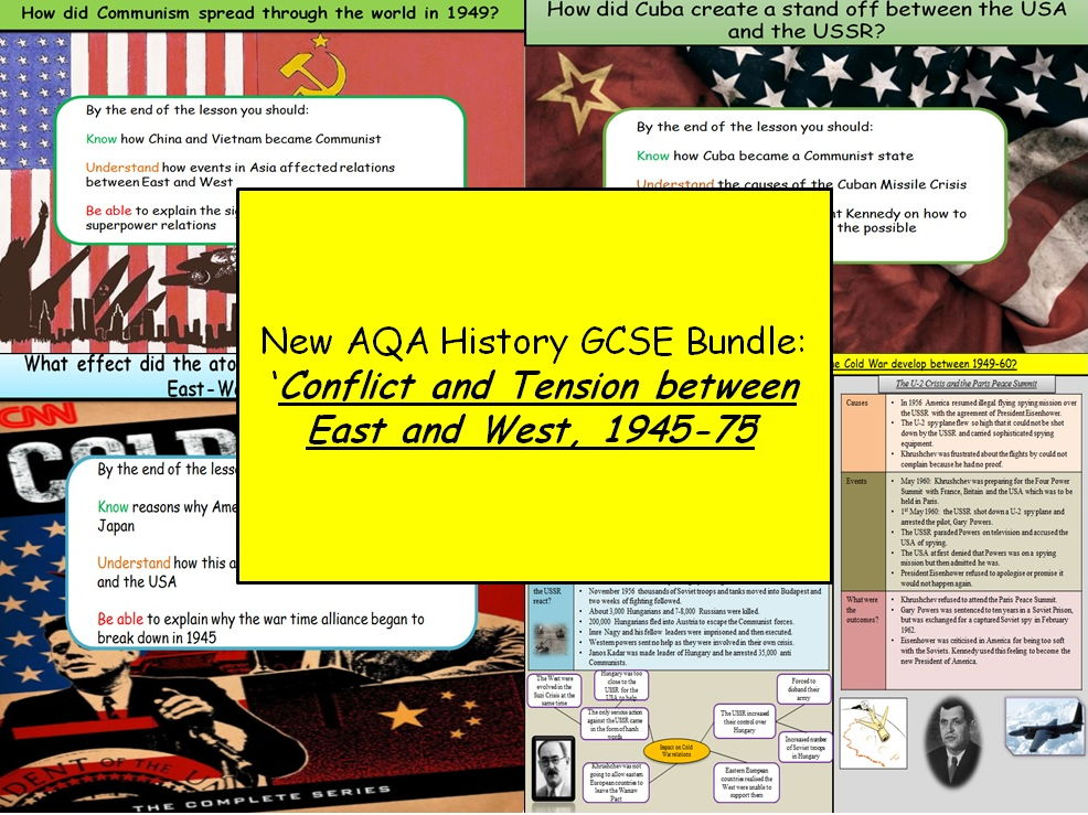 New AQA History GCSE Bundle: Conflict and Tension between East and West 1945-72