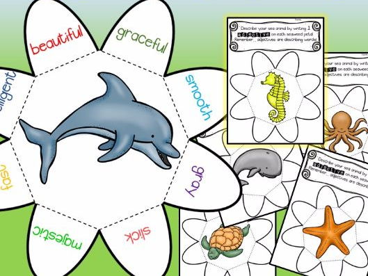 Animal Adjective Wheels - Ocean Animals