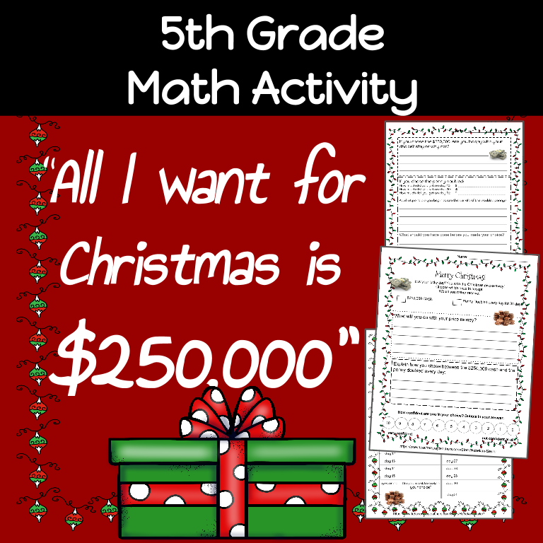 5th Grade Math: Christmas Activity- Doubling Numbers