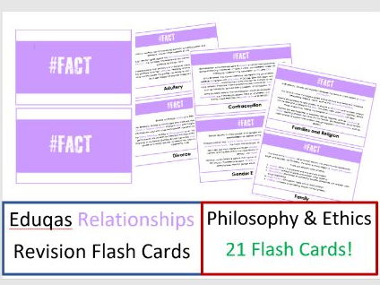 GCSE Religious Studies: Philosophy and Ethics: Relationships Fact Cards