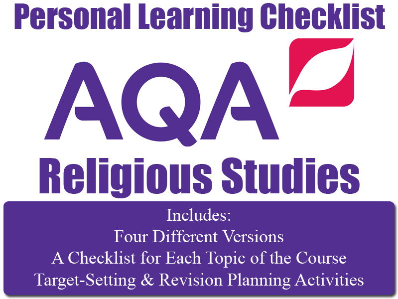 Religion, Crime & Punishment - PLC (Personal Learning Checklist ) [AQA GCSE RS]