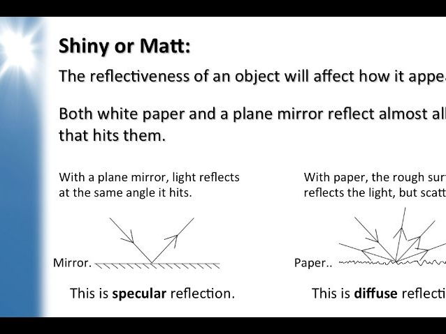 KS3 Physics Lesson Resources - Light - Reflection (Lesson 2)