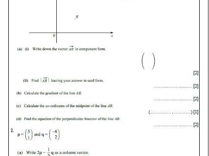 Topic 5: Vectors. Non-calculator revision guide. IGCSE International Mathematics