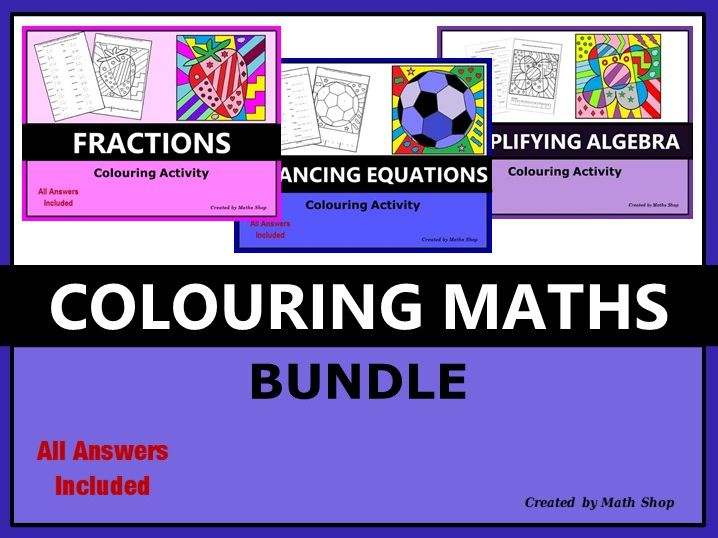 Colouring Maths Bundle
