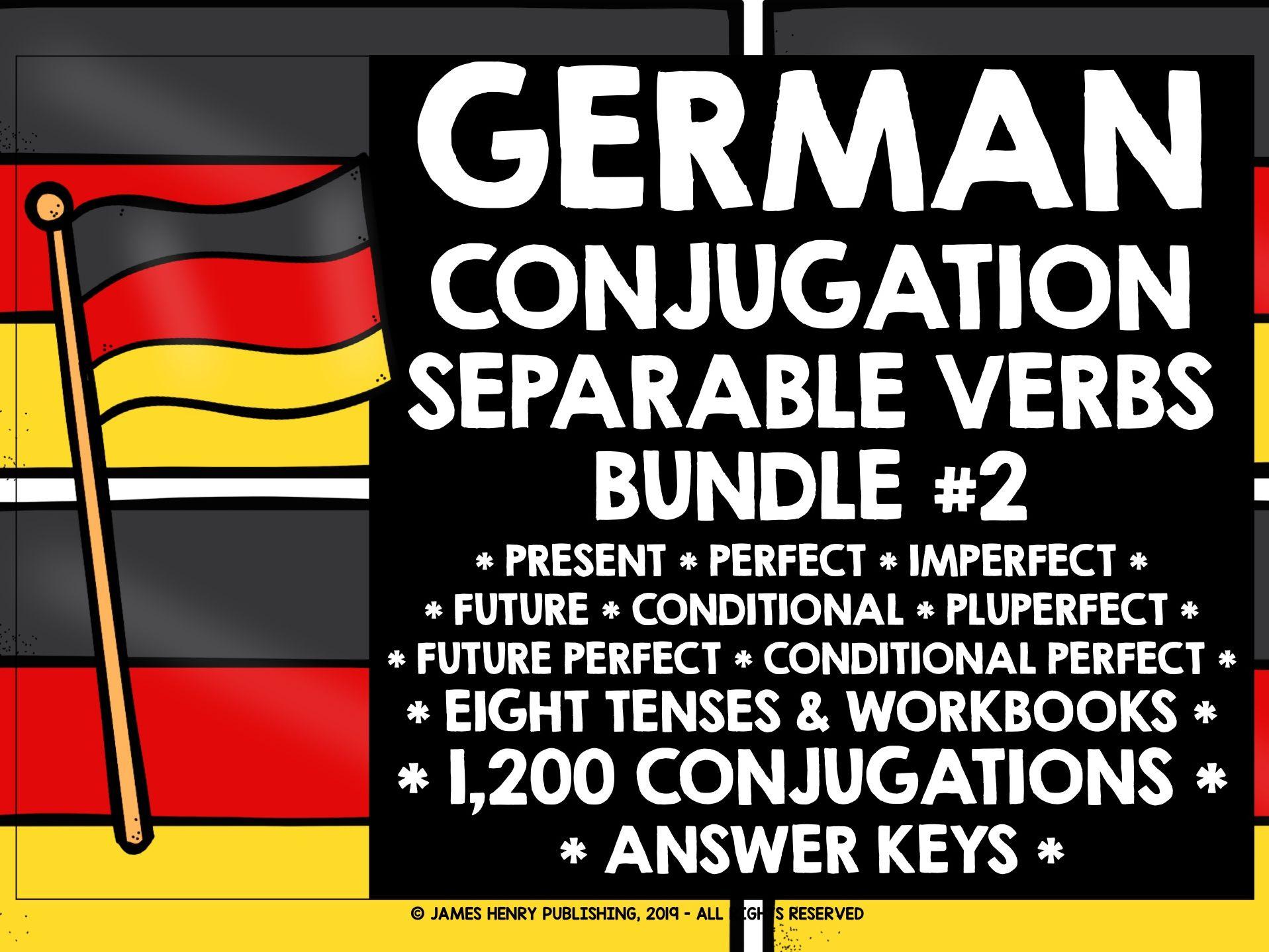 GERMAN SEPARABLE VERBS CONJUGATION PRACTICE #2