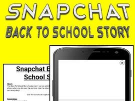 Snapchat Back To School Story