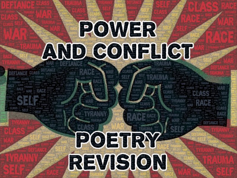 Power and Conflict Poetry AQA GCSE Recap Quiz and Quote Quiz