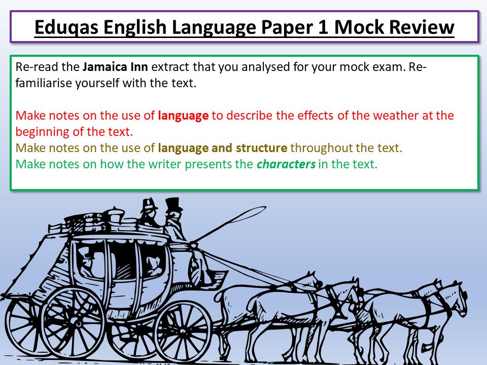 Eduqas English Language Paper 1 Mock