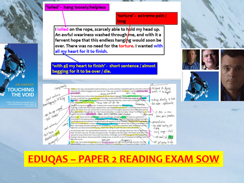 EDUQAS GCSE English Language - Paper 2 reading SOW