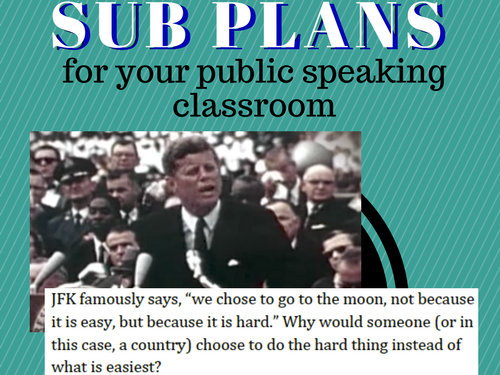 Historical Speeches Sub Plans