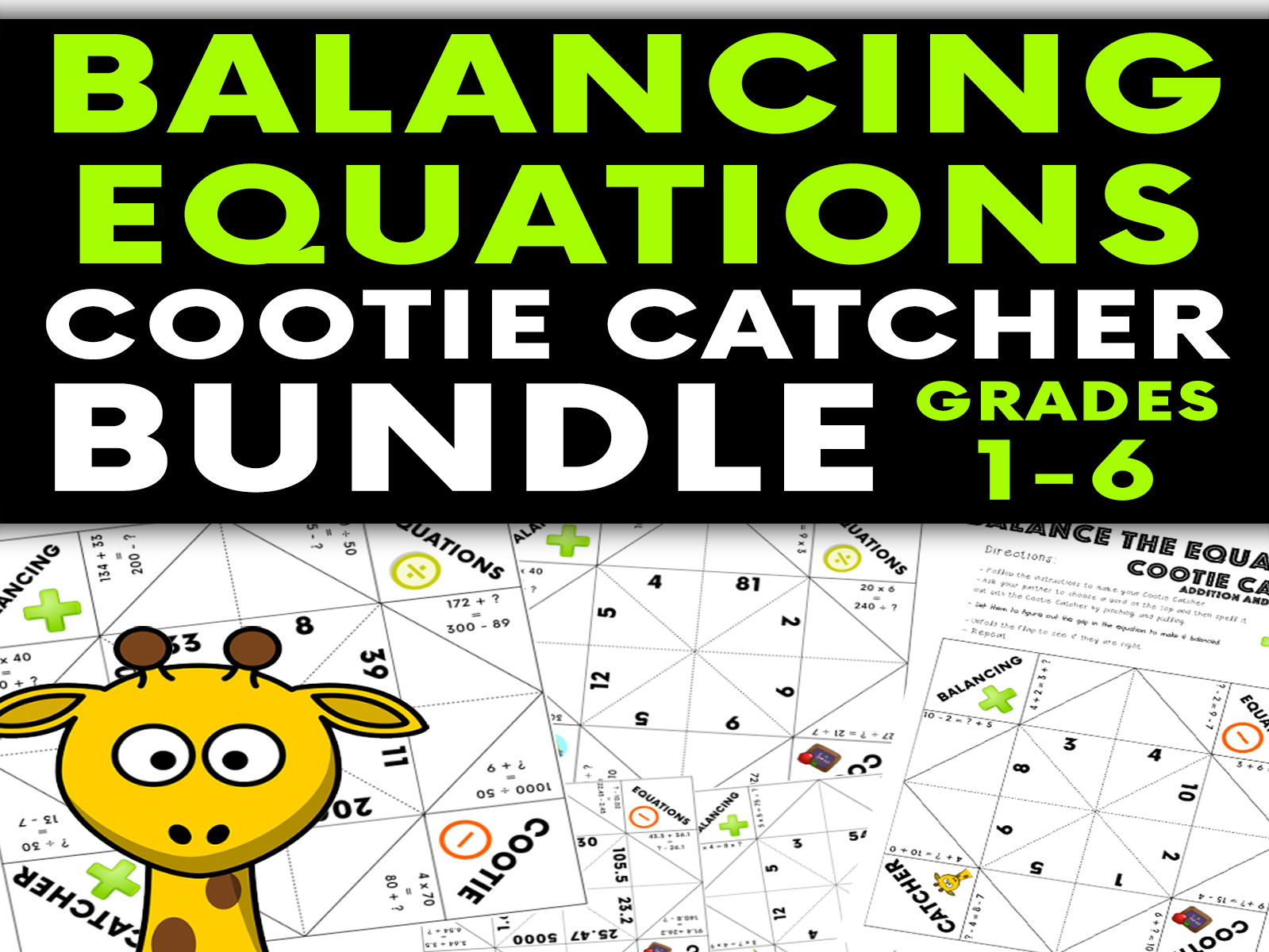 Balance The Equations Cootie Catcher Bundle: Years 2 - 7