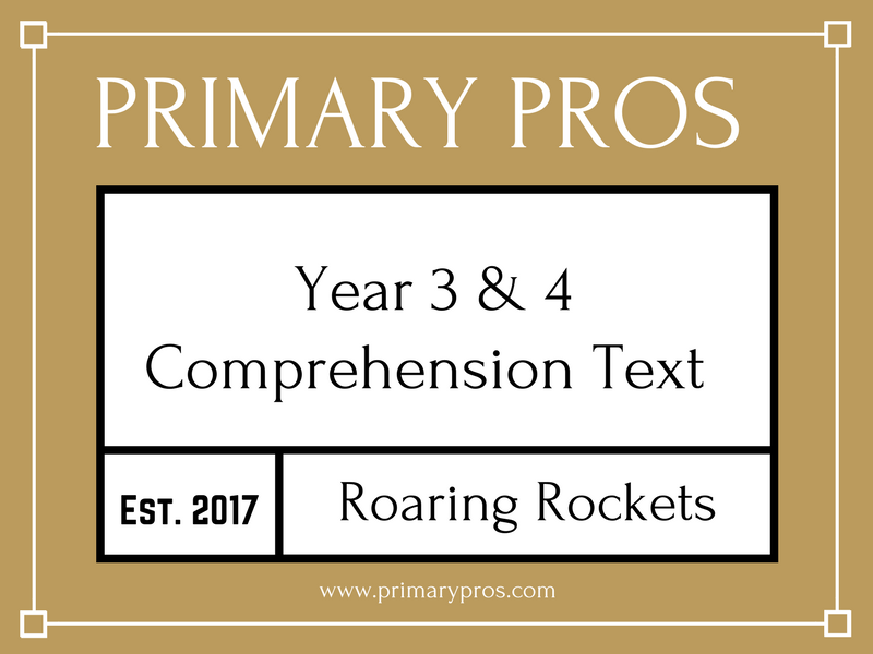 Year 3 & 4 Comprehension Text - Roaring Rockets