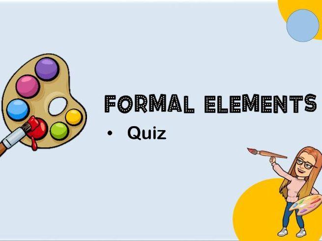 Visual Elements Art Quiz