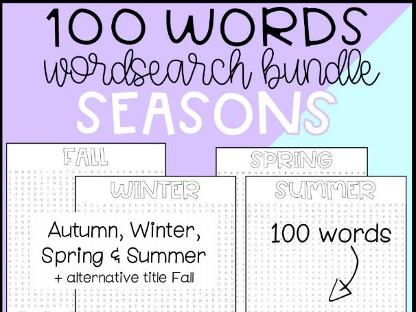 Seasons Word Searches