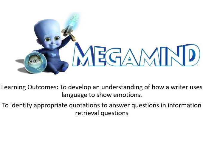 Megamind- Impressions - Fiction Reading (Component 1a Eduqas)