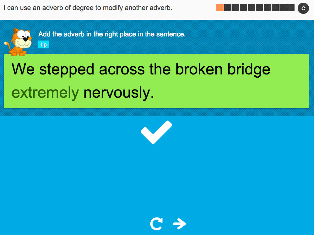 I can use an adverb of degree to modify an adverb - Interactive Activity - Year 5 Spag