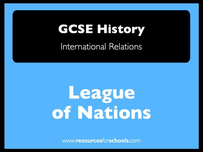League of Nations: reasons for failure