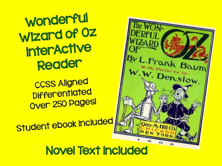 The Wonderful Wizard of Oz CCSS Unit – Over 250 Pages