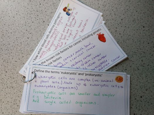 AQA Trilogy (physics) revision cards