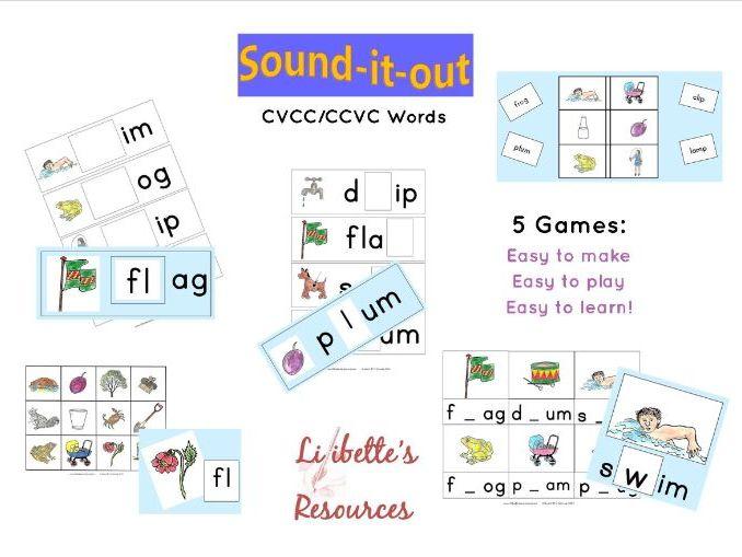 Consonant Blends Phonics Games