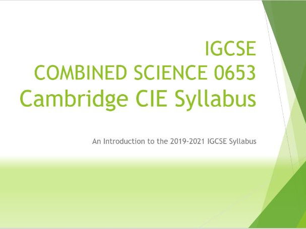 IGCSE CIE Combined Science 0653 Syllabus 2019-2021