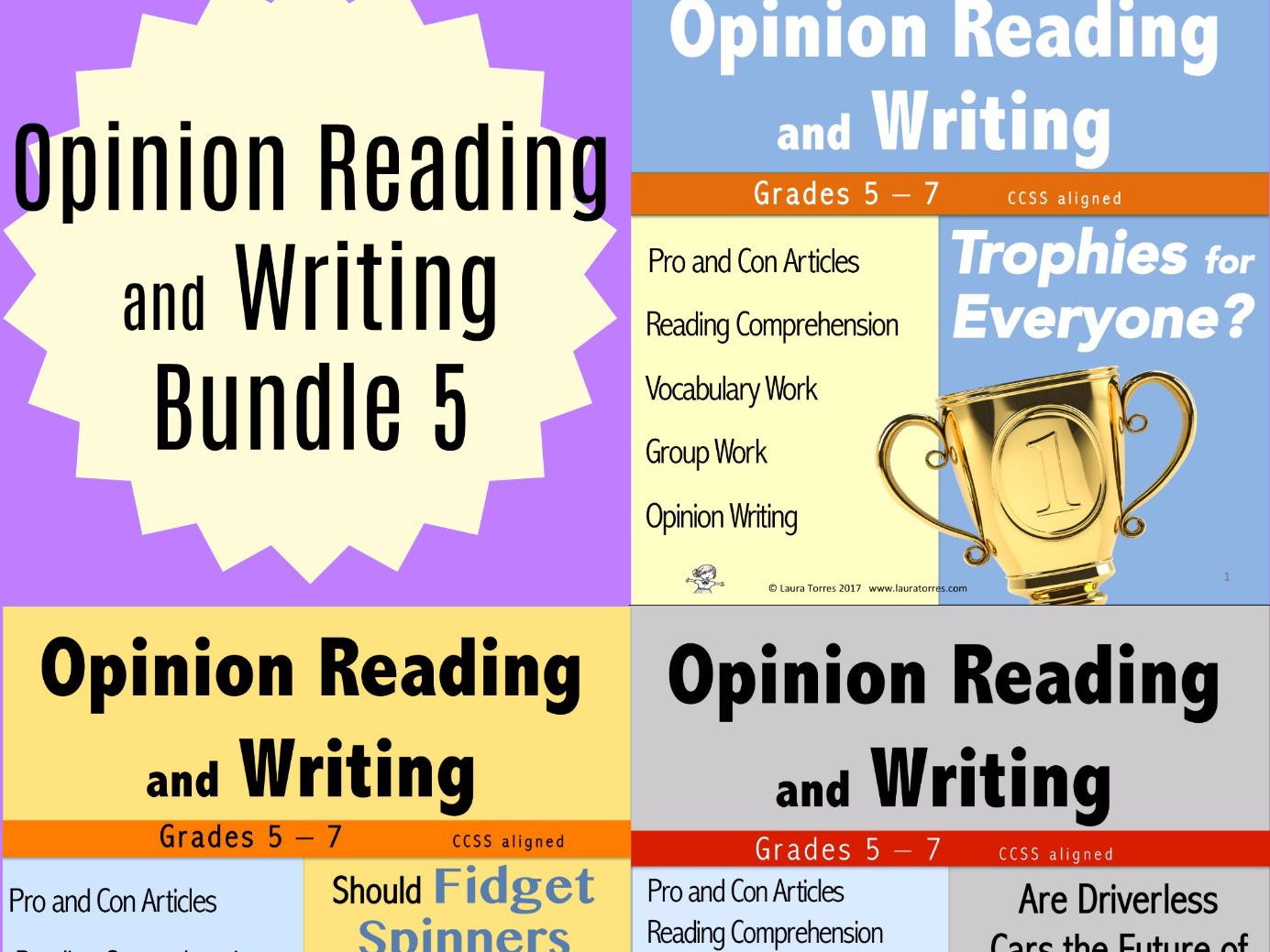 Opinion Reading and Writing Bundle 5