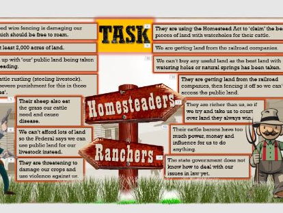 Lesson 13 GCSE Edexcel 1-9 American West - Rivalry between ranchers and homesteaders.
