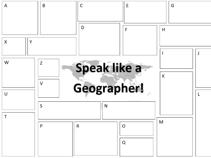 Speak like a Geographer