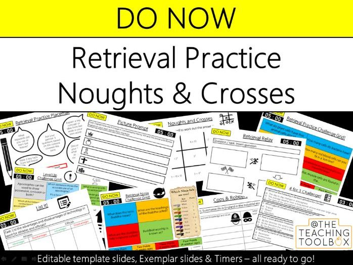 Do Now Retrieval Practice - Noughts & Crosses