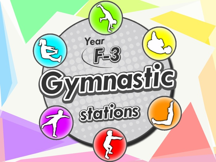 Gymnastic stations for PE - Complete skill activities & Lesson plans - Years F-3 (KS1)