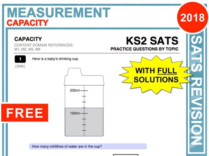 KS2 Maths (Capacity)