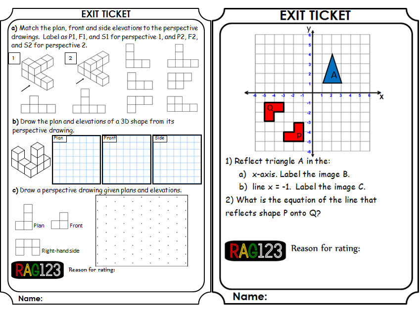 Geometry Exit Tickets by Em81 - Teaching Resources - Tes