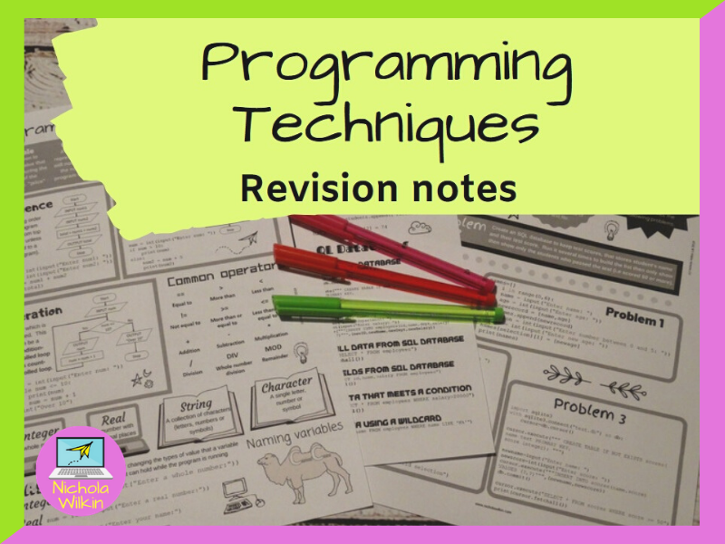Programming Techniques Revision Knowledge Organiser