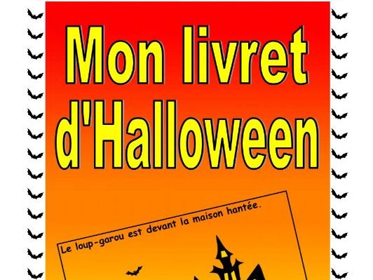 French Halloween Booklet