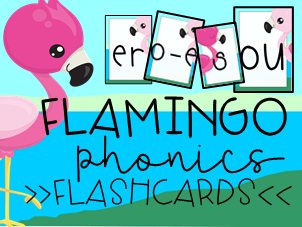 Flamingo Phonics Posters: Alphabet, Digraphs, Split Digraph,  &Trigraphs Flashcards