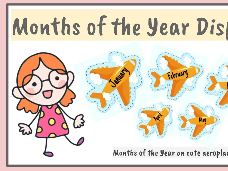 Birthday months  display on Aeroplanes-EYFS/YEAR1/YEAR 2