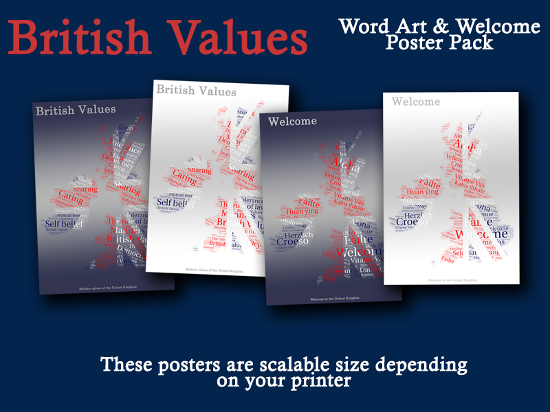 British Values & Welcome Poster Pack