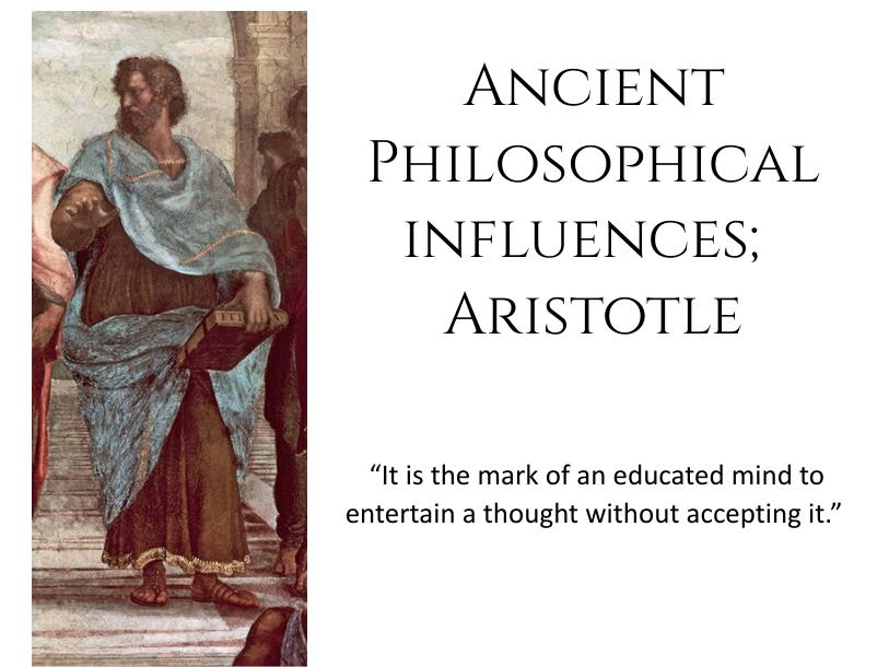 Aristotle Ancient philosophical influences