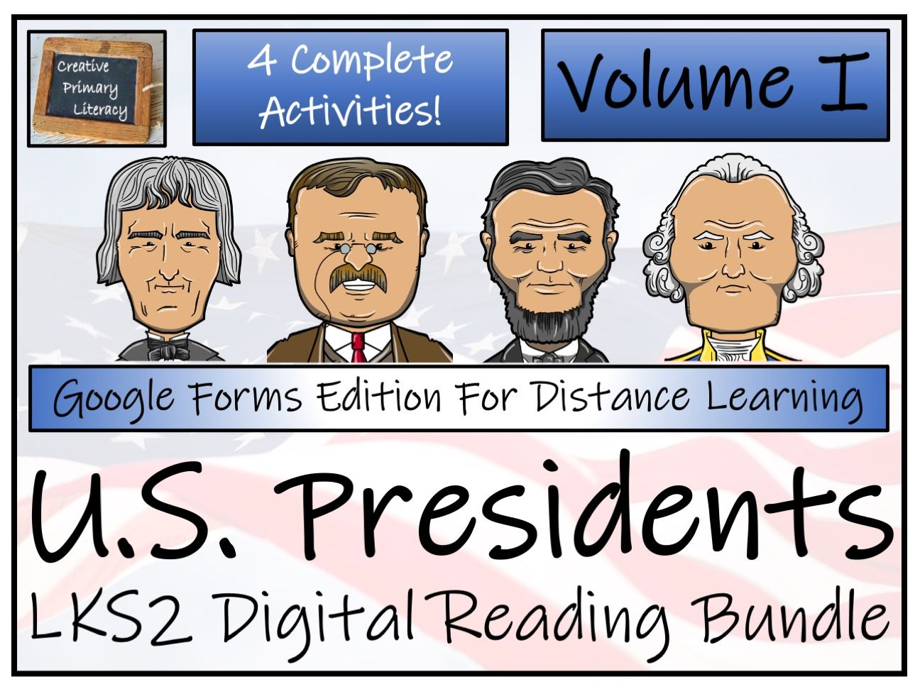 LKS2 American Presidents; Volume 1 - Reading Comprehension & Distance Learning Bundle