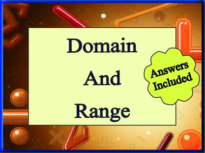 Domain and Range - 24 Questions with Answers