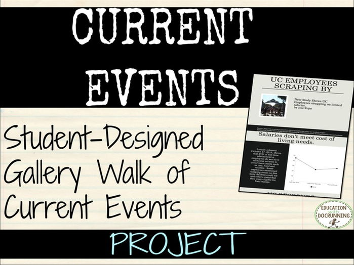 Current Events Student Designed gallery walk