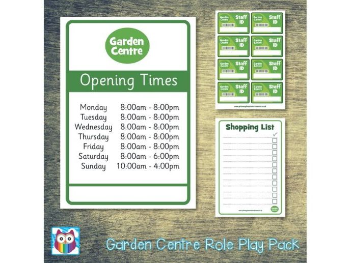 Garden Centre Role Play Pack