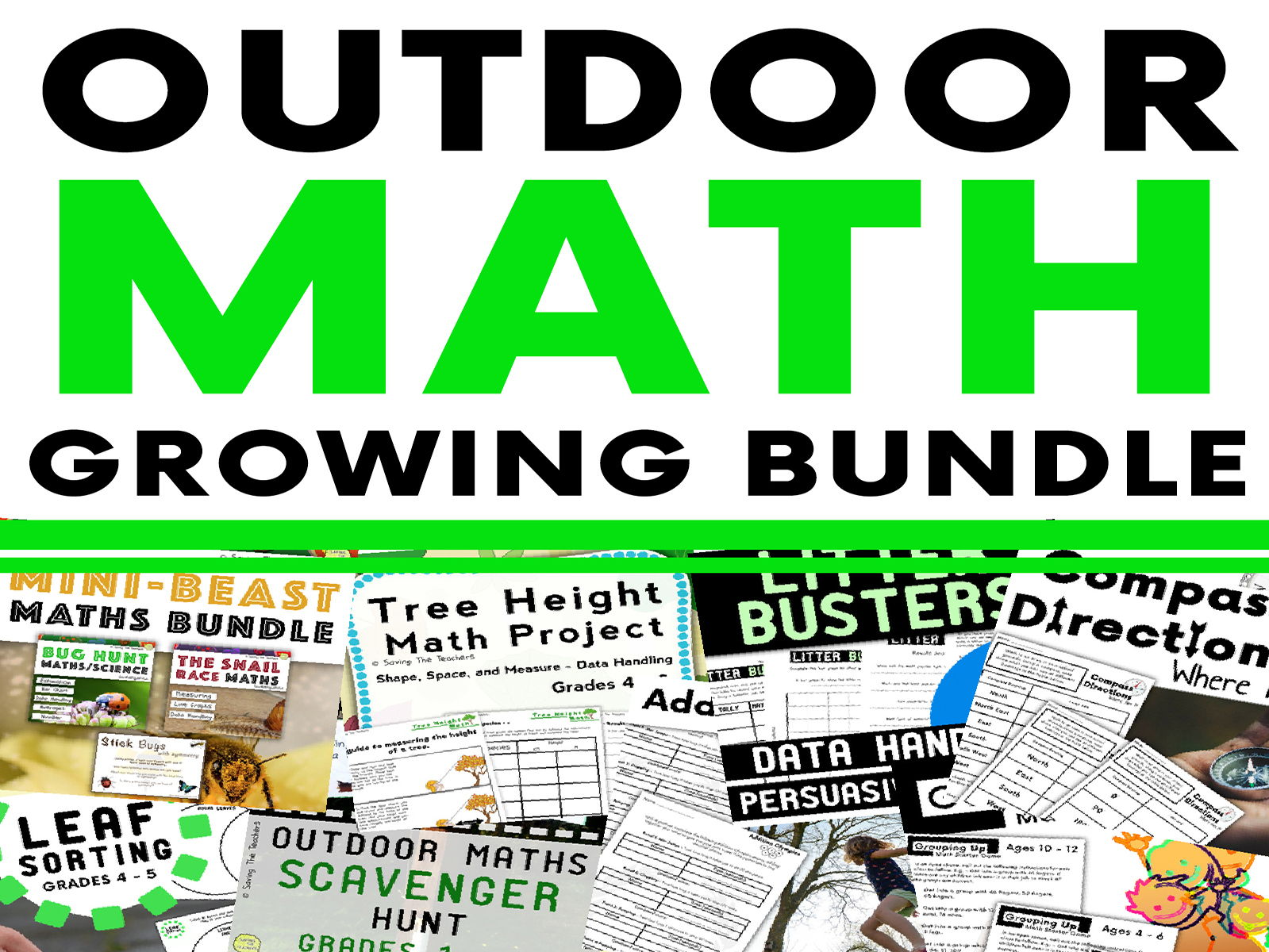 Math Outdoor Activity HUGE Bundle
