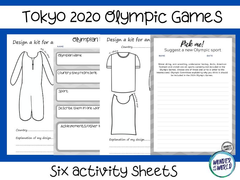 Tokyo 2020 Olympic Games activity sheets
