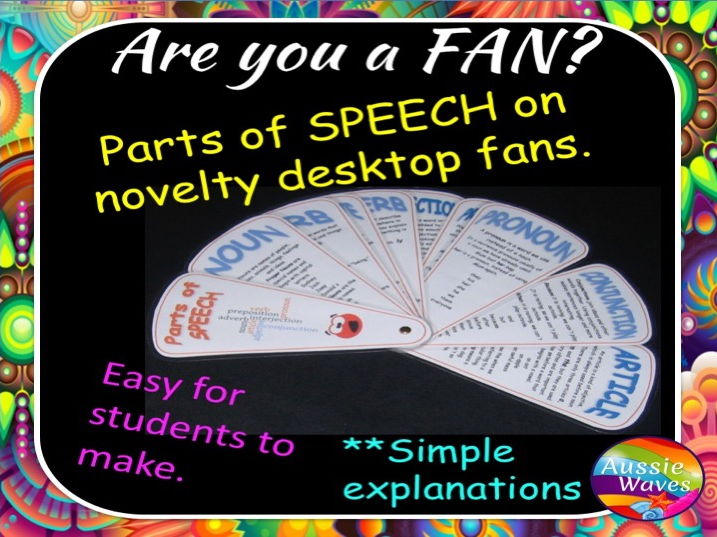Parts of Speech Reference Information All explained on a Memory Fan