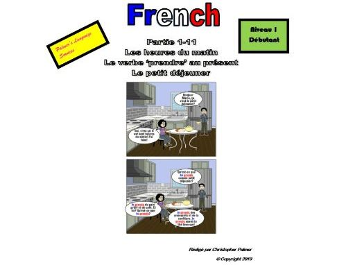 French for Adults: Beginners: Part 11: The verb 'prendre' in the present tense and breakfast