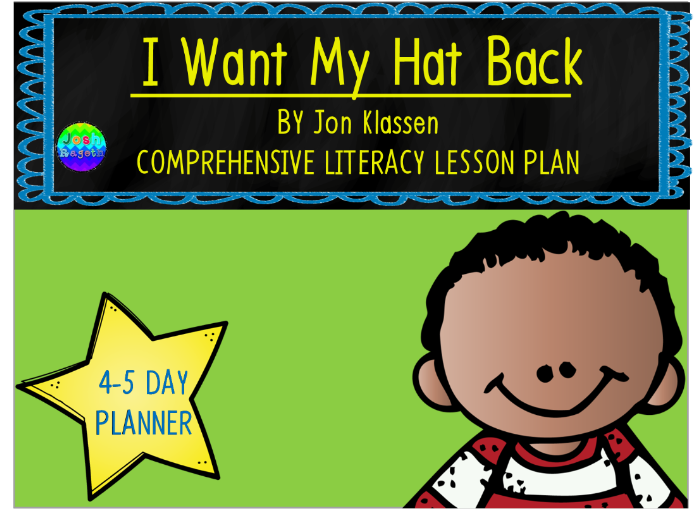 I Want My Hat Back by Jon Klassen 4-5 Day Lesson Plan