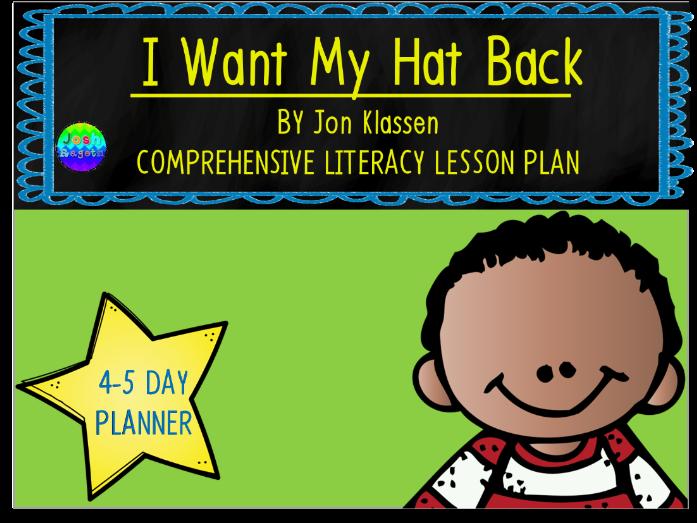 I Want My Hat Back by Jon Klassen 4-5 Day Lesson Plan
